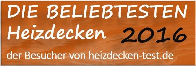 Beliebteste Heizdecke 2016