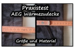 AEG Heizdecke Praxistest